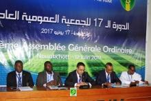 منصة افتتاح الدورة الـ17 للجمعية العامة لاتحادية كرة القادم البارحة (وما)