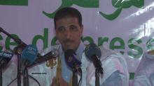 المرشح الرئاسي محمد ولد مولود خلال مؤتمر صحفي سابق (الأخبار - أرشيف)