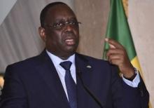 الرئيس السنغالي ماكي صال خلال مؤتمر صحفي بالعاصمة داكار.