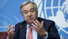 الأمين العام للأمم المتحدة أنتونيو غوتيريش.