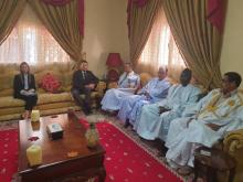 المرشح ولد ببكر خلال لقائه مع السفير الأمريكي في موريتانيا مايكل دودمان