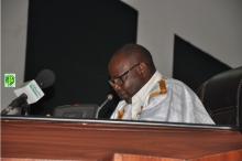 رئيس الجمعية الوطنية محمد ولد ابيليل خلال خطاب اختتام الدورة البرلمانية مساء اليوم (وما)