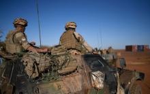 جنود فرنسيون من قوات باراخان بمدينة غاو 13 يناير 2017.
