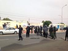 وحدة من الشرطة وسط العاصمة خلال احتجاجات سابقة (الأخبار - أرشيف)