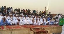 النائب خطري ولد اعل مع المنضوين في المبادرة المنظمة للنشاط بمدينة النعمة
