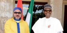 الرئيس النيجيري محمدو بخاري والعاهل المغربي محمد السادس.