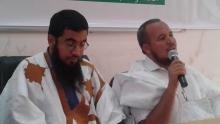 رئيس الكتلة الطلابية اتقانا ولد عابدين والأستاذ المحاضر الدكتور داري محمد
