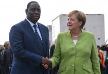 المستشارة الألمانية أنجيلا ميركل والرئيس السنغالي ماكي صال.
