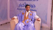 """المرشح الرئاسي محمد ولد مولود خلال مشاركته في برنامج """"حوار الأخبار"""""""