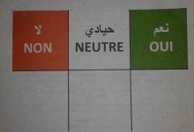 واجهة بطاقة التصويت في الاستفتاء المزمع في 05 أغسطس المقبل ـ (الأخبار)