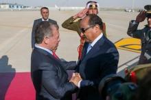 الرئيس الموريتاني محمد ولد عبد العزيز وملك الأردن عبد الله الثاني