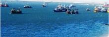 سفن في المياه الإقليمية الموريتانية
