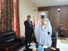 نائب رئيس البرلمان الموريتاني بيجل ولدهميد، ورئيس الاتحاد العربي الإفريقي للإعلام الرقمي عبد الرحمن شماني