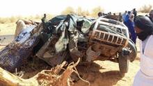 حادث سير سابق على طريق الأمل