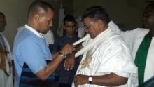 نائب رئيس حزب تكتل القوى الديمقراطية محمد محمود ولد لمات خلال تلقيه العلاج في المستشفى