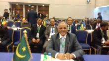 المدير العام للأمن الفريق محمد ولد مكت خلال مشاركته في المؤتمر الأمني بالجزائر