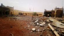 صور من آثار الانفجار في مقر قوة G5 في سفاري