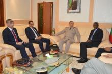 وزير الدفاع جالو مامادو باتيا خلال لقائه مع الوفد العسكري المصري