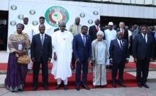 قادة الدول الأعضاء بالمجموعة الاقتصادية لدول غرب إفريقيا.