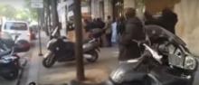 جانب من الاحتجاجات اليوم في محيط معهد العالم العربي بباريس