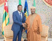الرئيس الغابوني علي بونغو أونديمبا والرئيس التوغولي فور نياسينغبي
