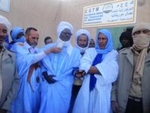 رئيس قسم البني التحتية أمي ولد سيد أحمد أعرب عن خيبة أمله من سوء أوضاع الجرنالية (تصوير الأخبار)