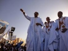 الرئيس الموريتاني محمد ولد عبد العزيز خلال نشاط جماهيري سابق له
