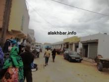 جانب من واجهة السوق المركزي في مدينة نواذيبو زوال الثلثاء (تصوير الأخبار)