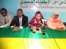 جانب من اجتماع أطر التعليم المنخرطين تحت يافطة الحزب الحاكم (تصوير الأخبار)
