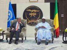 الأمين العام للأمم المتحدة أنتونيو غوتيريش والرئيس المالي ابراهيم بوبكر كيتا.