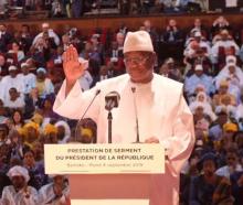 الرئيس المالي ابراهيم بوبكر كيتا لدى أدائه اليمين رئيسا لمأمورية ثانية.