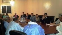 قادة حزب التكتل خلال لقائهم مع وفد البرلمان الأوربي في نواكشوط