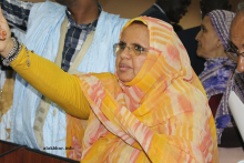رئيس المجلس الجهوي بنواكشوط فاطمة بنت عبد المالك اليوم داخل القاعة الرئيسية بالمباني المجموعة الحضرية (الأخبار)