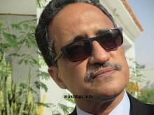 وزير الخارجية الموريتاني إسلكو ولد إزيد بيه يتحدث للأخبار مساء اليوم الخميس(الأخبار)