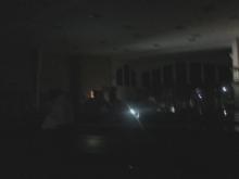 قاعة الجلسات بالجمعية الوطنية بعد انقطاع الكهرباء خلال جلسة استجواب لوزير الصحة اليوم الأربعاء (الأخبار)