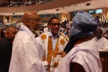قادة بلجنة تسيير حزب UPR على هامش مؤتمره الأخير ـ (أرشيف الأخبار)
