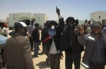 محتجون من الحمّالة خلال إضراب سابق ـ (أرشيف الأخبار)