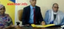 جانب  من  الاجتماع الذي عقده مدير الماراتون مع الصحفيين في نواذيبو/ تصوير الأخبار