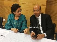 المدير العام للبنك الوطني لموريتانيا محمد ولد انويكظ خلال انطلاقة النشاط (الأخبار)