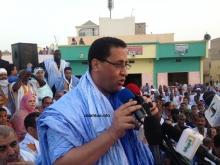 منسق حملة التعديلات الدستورية في نواكشوط وزير الاقتصاد والمالية المختار ولد اجاي (الأخبار)