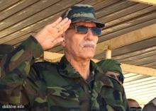 الرئيس الصحراوي إبراهيم غالي خلال عرض عسكري في 20 مايو الماضي بمنطقة تيفاريتي ـ (أرشيف الأخبار)