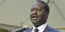 رايلا أودينغا زعيم المعارضة الكينية المقاطع لانتخابات 26 اكتوبر 2017 الرئاسية.