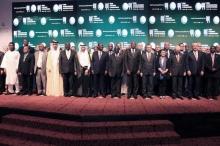 وزراء خارجية الدول الأعضاء بمنظمة التعاون الإسلامي خلال الدوة التي انعقدت بآبيدجان.