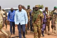 """الوزير الأول المالي بوبو سيسي خلال زيارته لبلدة """"غيري"""""""