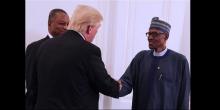 الرئيسان النيجيري محمدو بخاري والأمريكي دونالد ترمب.
