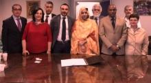منصة توقيع الاتفاق في روما بإيطاليا