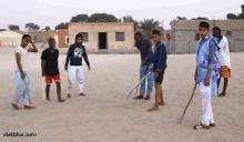 """لقطة من مباراة ودية للعبة """"تاگه"""" منظمة على هامش مهرجان المذرذرة الثقافي ـ (الأخبار)"""