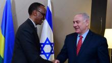 رئيس الوزراء الإسرائيلي بنيامين نتنياهو والرئيس الرواندي بول كاغامي.