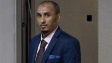 الحسن أغ عبد العزيز خلال أول مثول له أمام محكمة الجنايات الدولية.