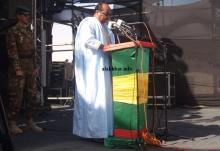 ولد عبد العزيز خلال إلقاء خطاب الافتتاح صباح اليوم ـ (الأخبار)